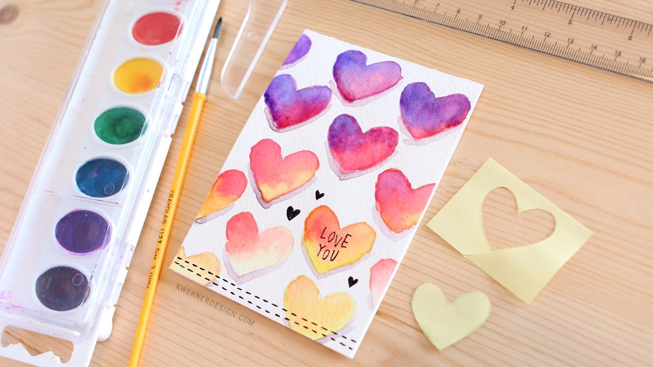 Good Card Making Ideas For Valentines Day Part - 10: Easy DIY Valentineu0027s Day Card Made With Minimal Supplies - YouTube