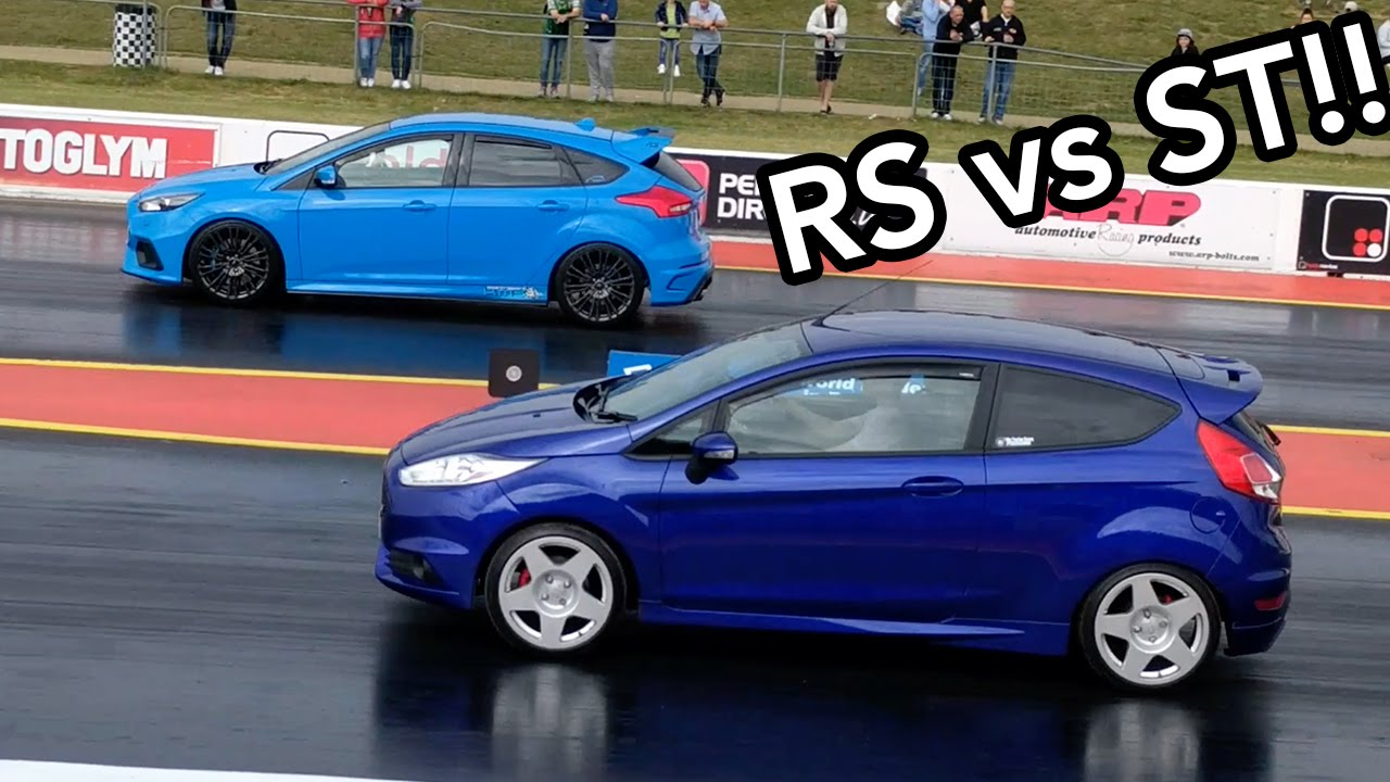 fiesta st vs focus rs drag race ford fest 2016 youtube. Black Bedroom Furniture Sets. Home Design Ideas