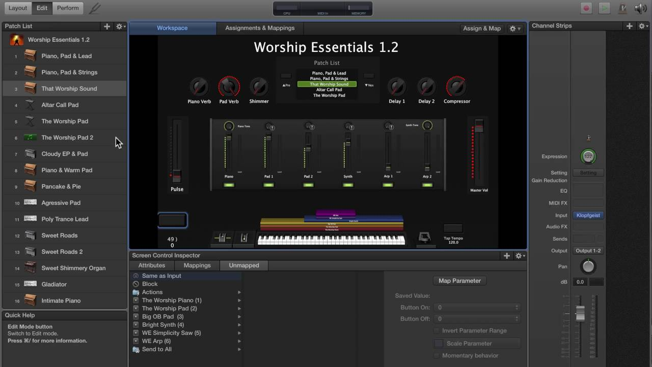 Adding A Panic Button In MainStage 3 (Worship Essentials