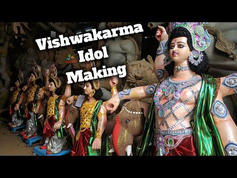 vishwakarma-idol-making-final-touch-2019