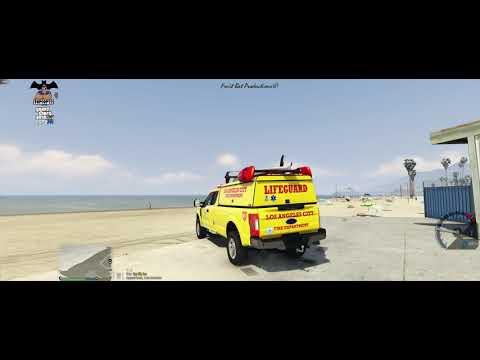 GTA V/LSPDFR] MEDIC4523 F-350 Topper LAFD Lifeguard No Stripe [ELS