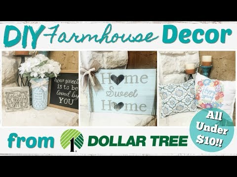 DIY Farmhouse Decor From Dollar Tree!  All Under $10!