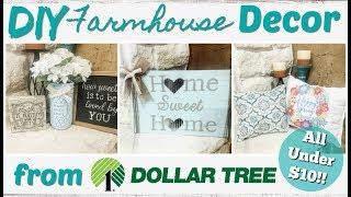 DIY Farmhouse Decor from Dollar Tree!  All under $10!