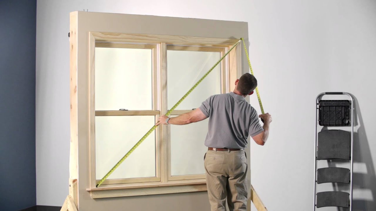 Measuring For Hang Strip Mount Shutter In Wood Trimmed Window Youtube