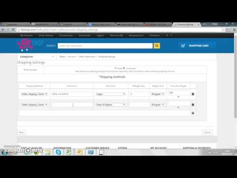 Register, set one time shipping setting on 6kshop.com