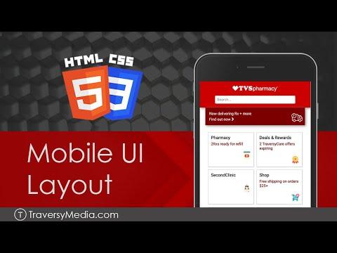 HTML & CSS Mobile UI Layout   CVS Clone