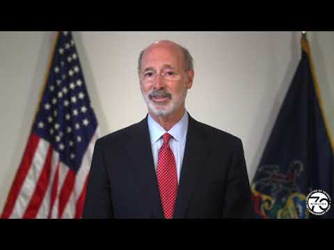 Governor Tom Wolf Speaks at Seventy Minutes (Election 2020)