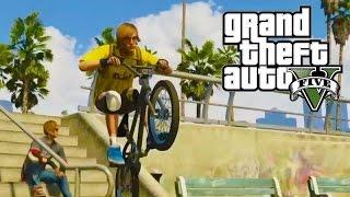 GTA 5 трюки на бмх!(Гта 5 трюки на велосипеде бмх! Владелец этого видео сдесь https://www.youtube.com/watch?v=bD7t1H4wf2w. Я это видео не украл, а..., 2015-11-06T07:25:20.000Z)