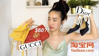 "Buying ""DESIGNER"" ITEMS on TAOBAO淘宝   Fake Designer Haul   Jenny Zhou 周杰妮"