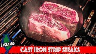 New York Strip Steak in a Cast Iron Pan