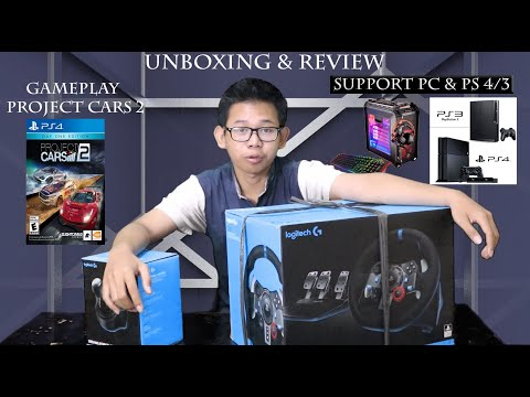 UNBOXING & Review Logitech G29 + Shifter & Gameplay Project Cars 2 (PC) (PS4) (PS3)