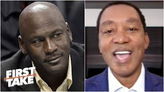 Isiah Thomas reacts to Michael Jordan 'hating' the 'Bad Boy' Pistons to this day | First Take
