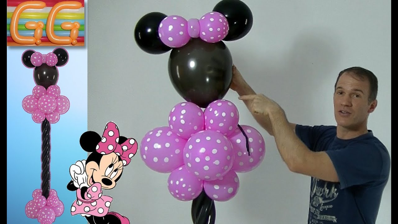 de minnie mouse decoracion con globos