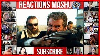 Logan Official Trailer Reactions Mashup