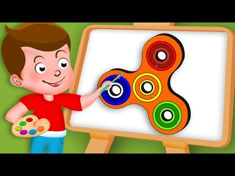 Drawing Fidget spinner Paint And Colouring For Kids | Kids Drawing TV