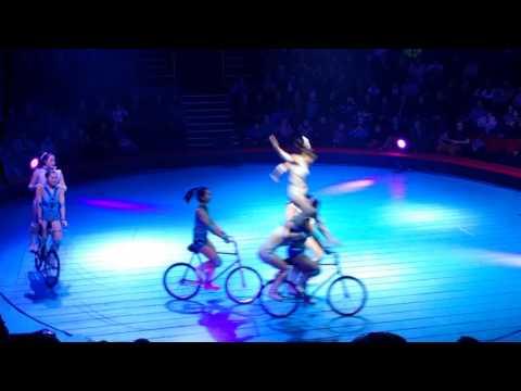 Chinese State Circus - girls on bikes!