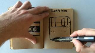 How to Draw a Floppy Disk