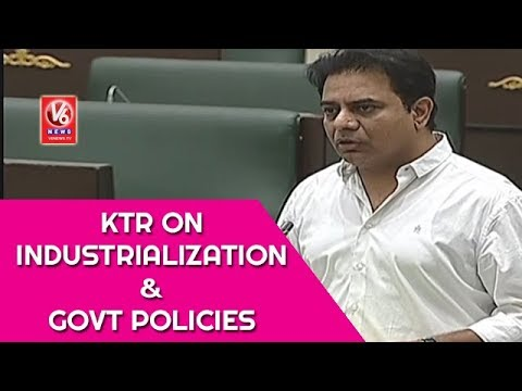 Minister KTR Speech On Industrialization And TRS Govt Policies | Telangana Assembly | V6 News