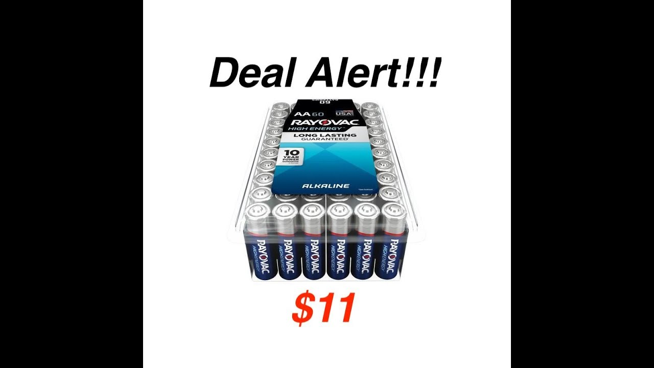 60 Count AAA Performance Alkaline Batteries