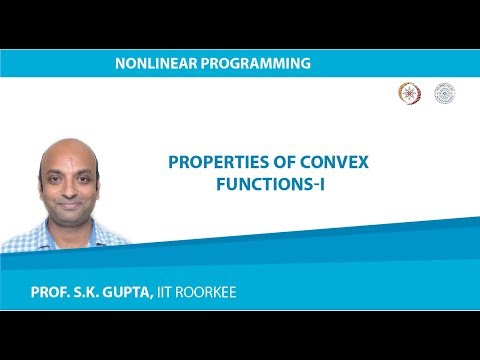 Lecture-02 Properties of Convex Functions-I