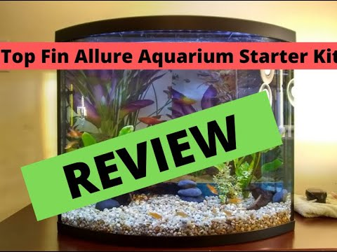 Top Fin Allure Bow Front Aquarium Starter Kit | 25 Gallon Tank | COMPLETE IN DEPTH REVIEW!!! |