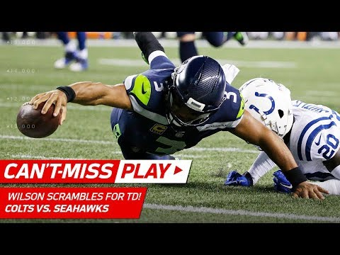 Russell Wilson Scrambles & Dives for the TD vs. Colts! | Can