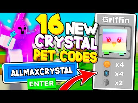 ALL 16 SECRET CRYSTAL PET CODES IN BOSS FIGHTING SIMULATOR!! *INSTANT OP* Roblox
