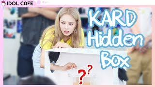Which KARD Member is a SCAREDY CAT?! | KARD Hidden Box @ Idol Cafe
