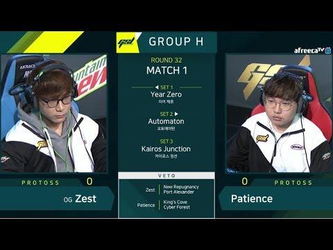 [2019 GSL S1] Ro.32 Group H Match1 Zest vs Patience