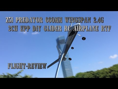 Z51 Predator 660mm Wingspan 2 4G 2CH EPP DIY Glider RC Airplane RTF