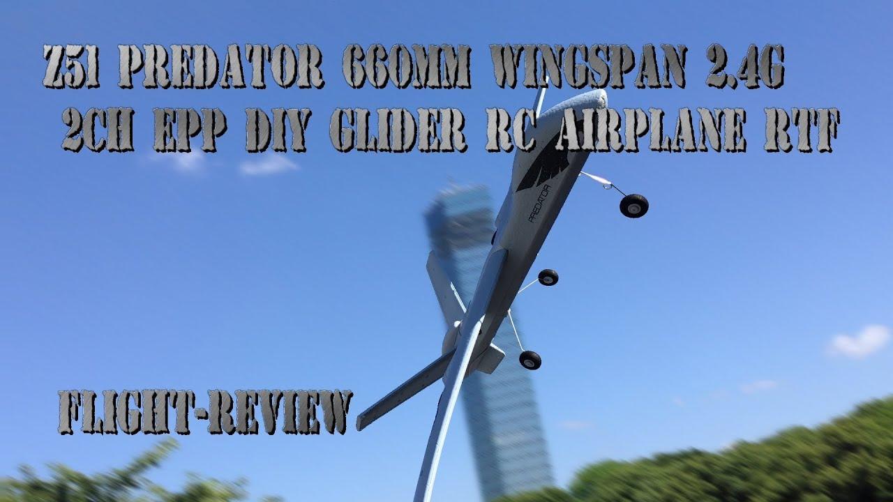 Z51 Predator 660mm Wingspan 2 4G 2CH EPP DIY Glider RC Airplane RTF  FLIGHT-REVIEW