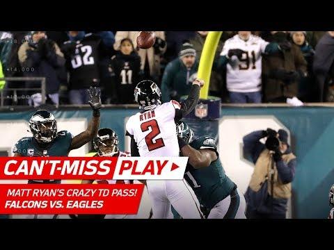 Matt Ryan Tosses Crazy TD Pass w/ Defenders All Over Him!   Can