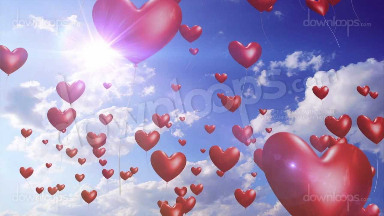 Love Balloon With cartoon Wallpaper : Heart Balloons - Romantic And Wedding Motion Background Video Loop - YouTube