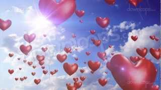 Heart Balloons - Romantic / Wedding Video Loop / Animated Motion Background