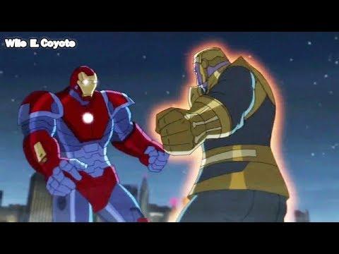 Iron Man Gigante Vs Thanos Los Vengadores Unidos T02e26 Español Latino