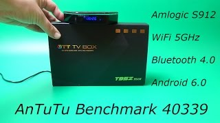 обзор t95z plus android tv box 4k s912 2gb ram 16gb rom android 6 0 bluetooth 4 0