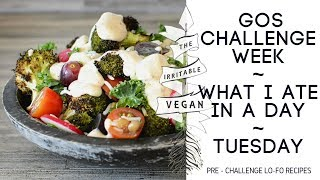 Vegan Low FODMAP Challenge Week / What I Ate in a Day / Tuesday