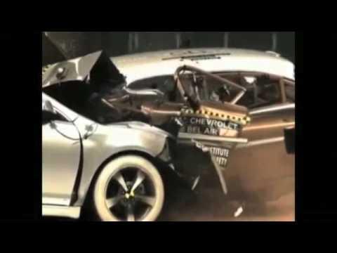 Crash Test Chevrolet 1959 Vs Chevrolet 2009 Youtube