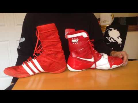 Adidas Adipower Boxing boots review - YouTube