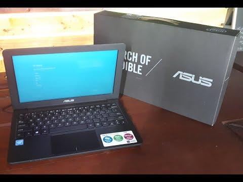 unboxing notebook asus e202sa series windows 10 original review full HD