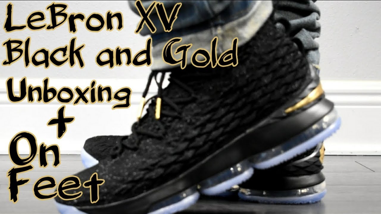black and gold lebrons