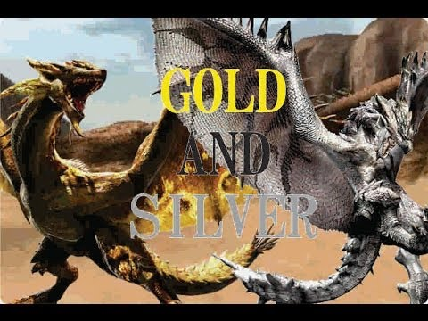 GOLD RATHIAN E SILVER RATHALOS MHFU MONSTER HUNTER ... Gold Rathian And Silver Rathalos