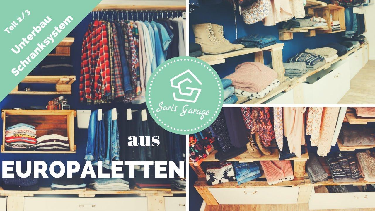 Schranksystem Aus Europaletten | Unterbau | Palettenmöbel | 2/3 | Upcycling  | Bauen | How To | DIY