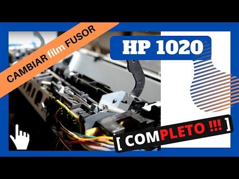 Reemplazar film fusor impresora laser HP deskjet 1020