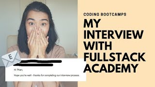 Coding Bootcamps | My Interview with Fullstack Academy