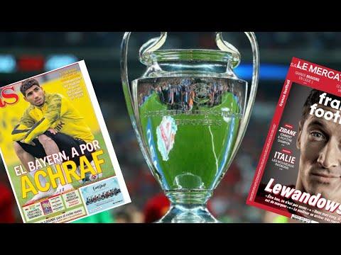 dat repriz ligue des Champions. deklarasyon Lewandoski. dosye transfè. 5 gwo gòl 2019 la.