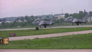 "VMAT-203 ""Hawks"" TAV-8B Harrier MCAS Cherry Point NC Taxi Launch Takeoff"