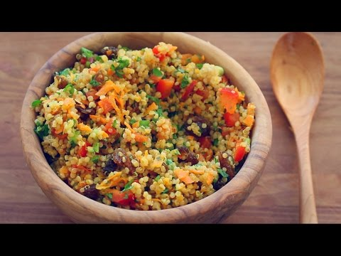 BEST QUINOA SALAD RECIPE EVER! (Colourful mint + turmeric salad)