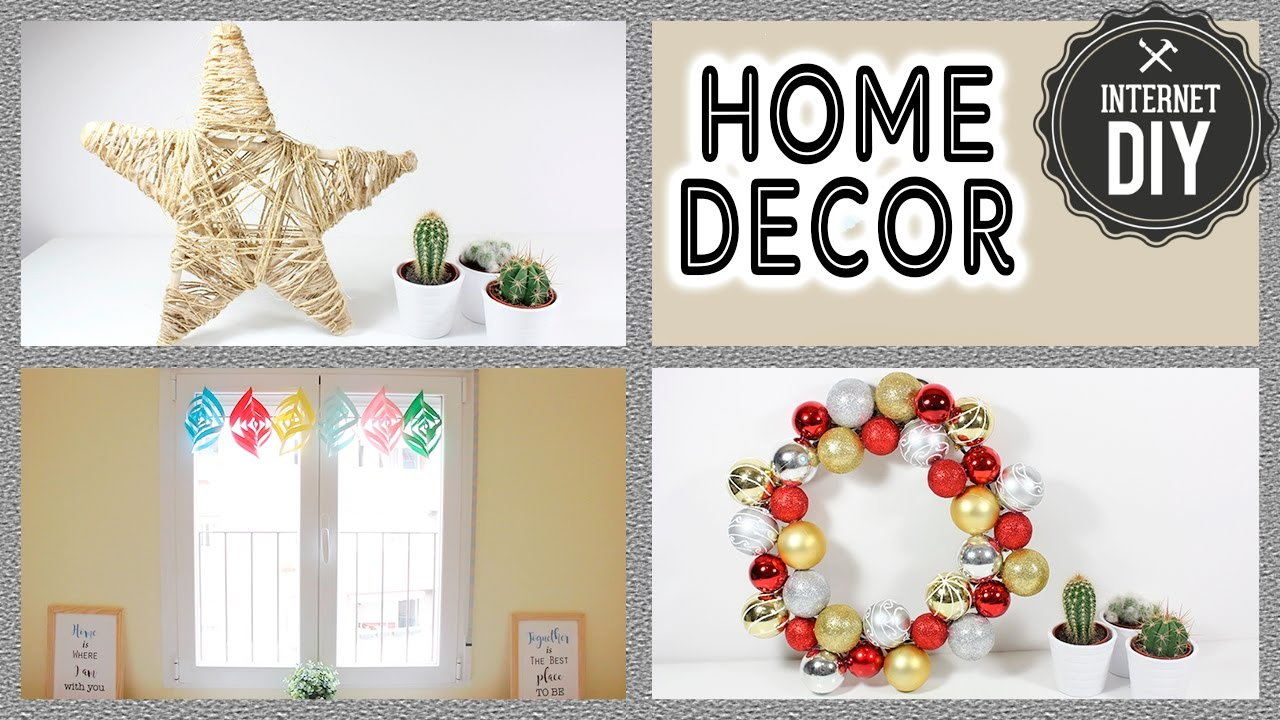 3 manualidades f ciles para decorar tu casa en navidad for Decorar casa de 45m2