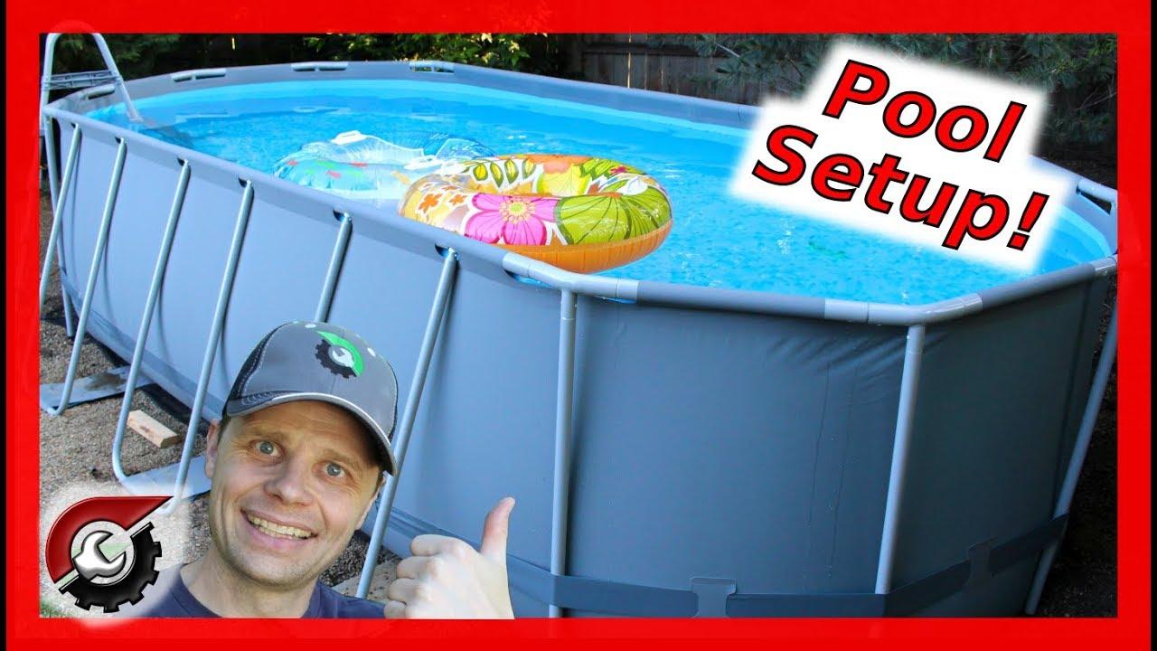 Costco Pool Setup Bestway Oval Pool Youtube